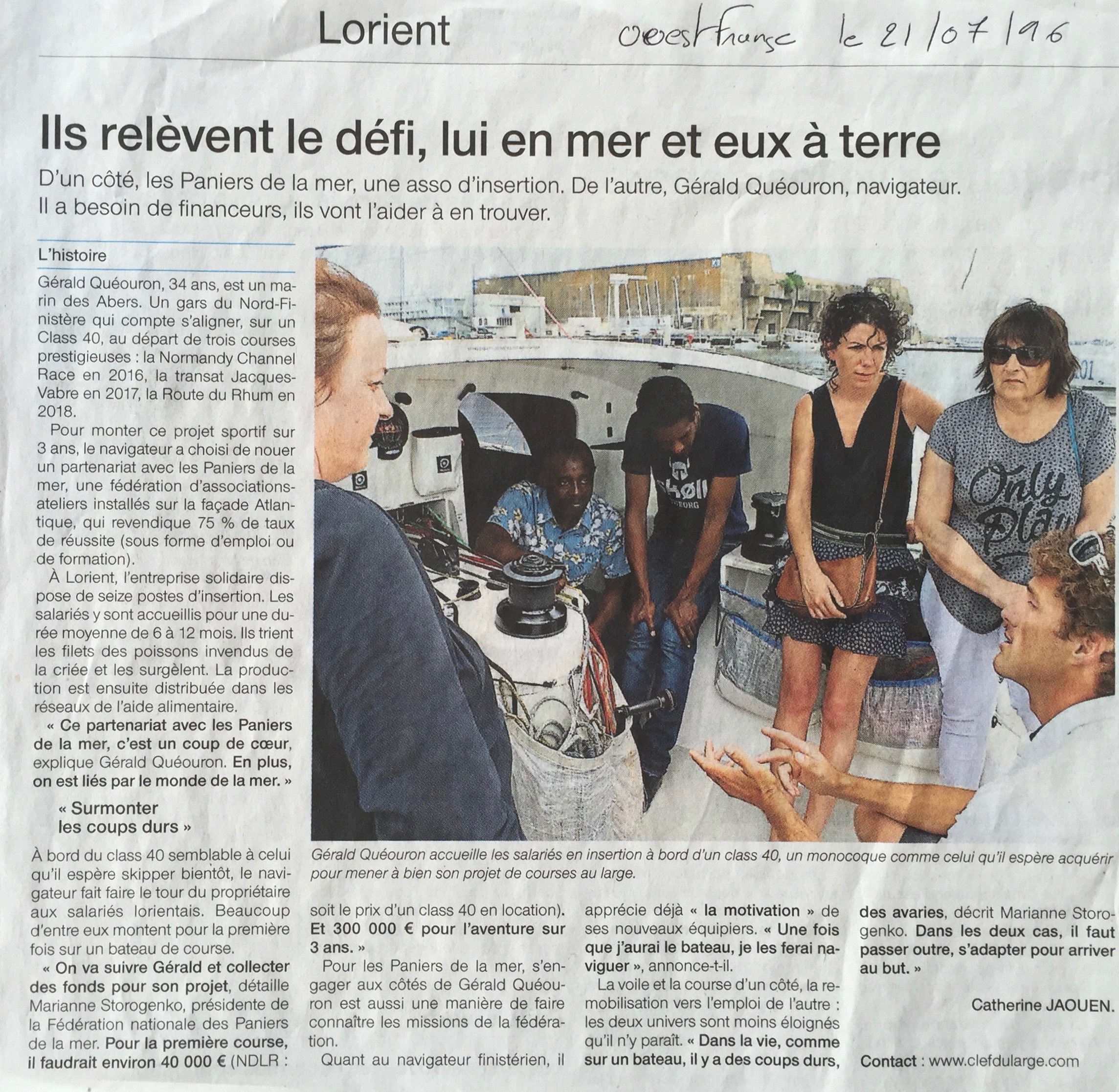 Ouest France 21/07/16